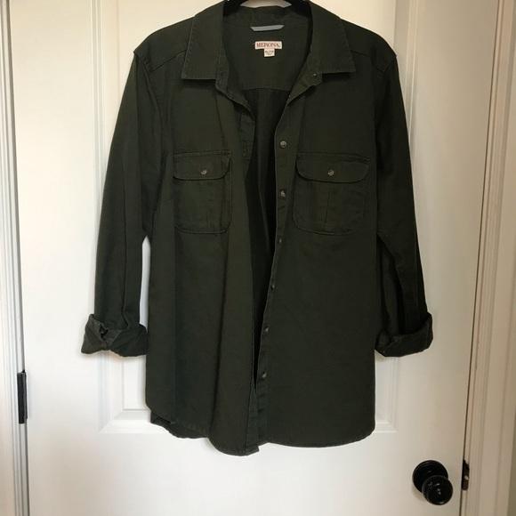 Merona Jackets & Blazers - Cute Green Denim Jacket